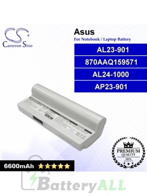 CS-AUA9NB For Asus Laptop Battery Model 870AAQ159571 / AL23-901 / AL24-1000 / AP23-901 (White)