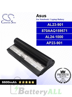 CS-AUA9NT For Asus Laptop Battery Model 870AAQ159571 / AL23-901 / AL24-1000 / AP23-901 (Black)