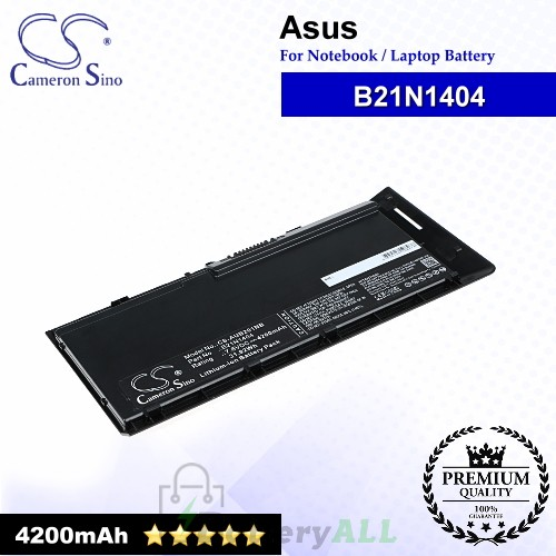 CS-AUB201NB For Asus Laptop Battery Model B21N1404