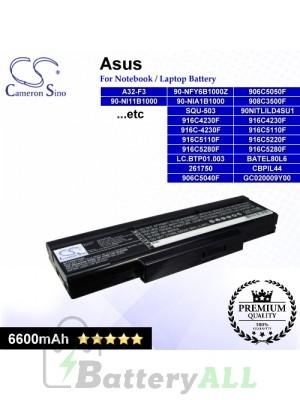 CS-AUF3HB For Asus Laptop Battery Model 15G10N3475A0 / 261750 / 3UR18650F-2-QC-11 / 70-NFX2B3000