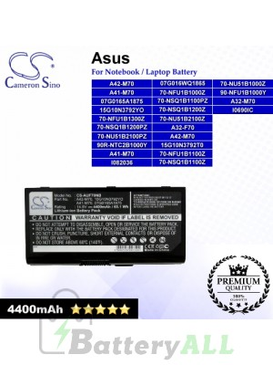 CS-AUF70NB For Asus Laptop Battery Model 07G0165A1875 / 07G016WQ1865 / 15G10N3792T0 / 15G10N3792YO