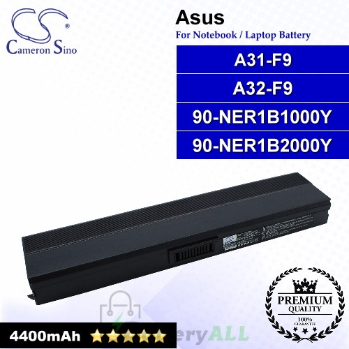 CS-AUF9NB For Asus Laptop Battery Model 90-NER1B1000Y / 90-NER1B2000Y / A31-F9 / A32-F9