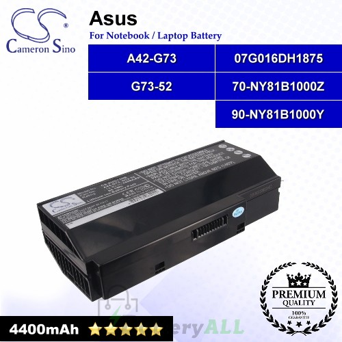 CS-AUG73NB For Asus Laptop Battery Model 07G016DH1875 / 07G016DH1875M / 07G016HH1875 / 07G016HH1875M