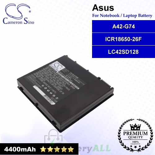 CS-AUG74NB For Asus Laptop Battery Model A42-G74 / ICR18650-26F / LC42SD128