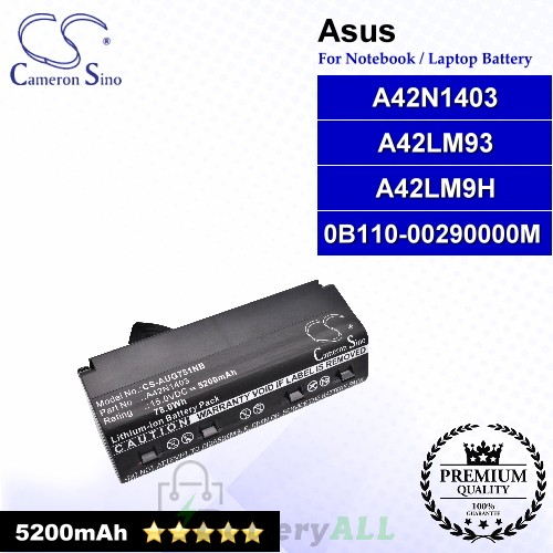 CS-AUG751NB For Asus Laptop Battery Model 0B110-00290000M / A42LM93 / A42LM9H / A42N1403