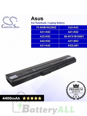 CS-AUK52NB For Asus Laptop Battery Model 70-NXM1B2200Z / 90-NYX1B1000Y / A31-B53 / A31-K42 / A31-K52