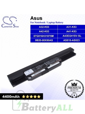 CS-AUK53NB For Asus Laptop Battery Model 07G016H31875M / 0B20-00X50AS / A31-K53 / A32-K53 / A41-K53