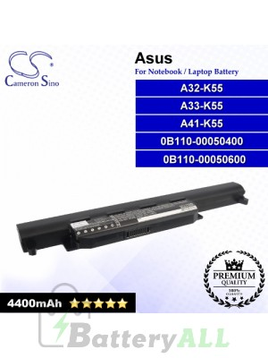 CS-AUK55NB For Asus Laptop Battery Model 0B110-00050400 / 0B110-00050600 / A32-K55 / A32-K55X / A33-K55