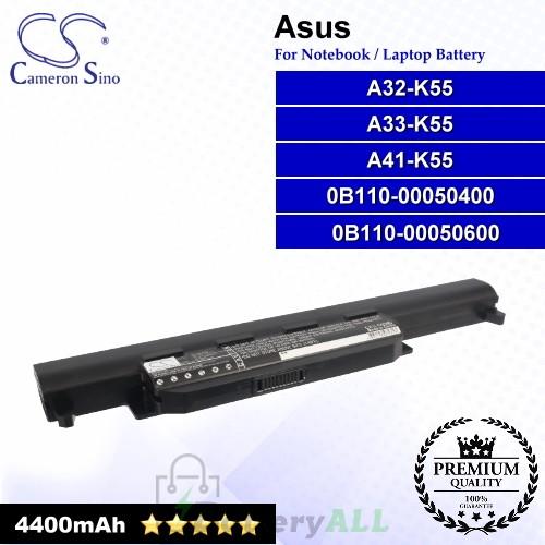 CS-AUK55NB For Asus Laptop Battery Model 0B110-00050400 / 0B110-00050600 / A32-K55 / A32-K55X / A33-K55