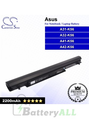 CS-AUK56NB For Asus Laptop Battery Model A31-K56 / A32-K56 / A41-K56 / A42-K56