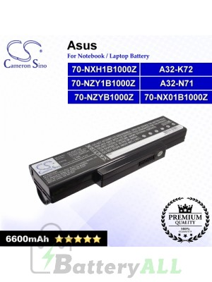 CS-AUK72HB For Asus Laptop Battery Model 70-NX01B1000Z / 70-NXH1B1000Z / 70-NZY1B1000Z / 70-NZYB1000Z