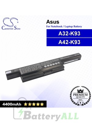 CS-AUK93NB For Asus Laptop Battery Model A32-K93 / A41-K93 / A42-K93