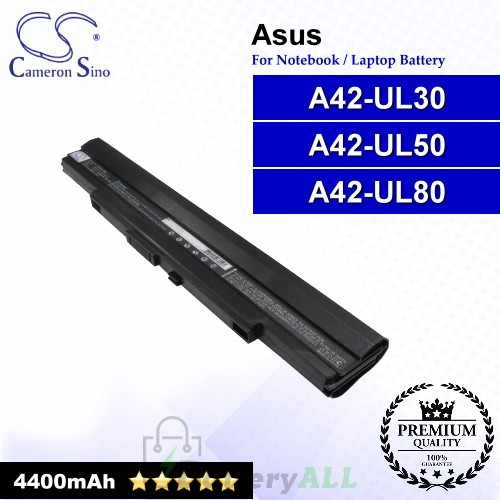 CS-AUL30NB For Asus Laptop Battery Model A42-UL30 / A42-UL50 / A42-UL80