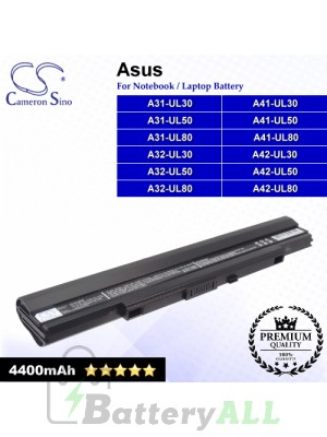 CS-AUL80NB For Asus Laptop Battery Model A31-UL30 / A31-UL50 / A31-UL80 / A32-UL30 / A32-UL50 / A32-UL80