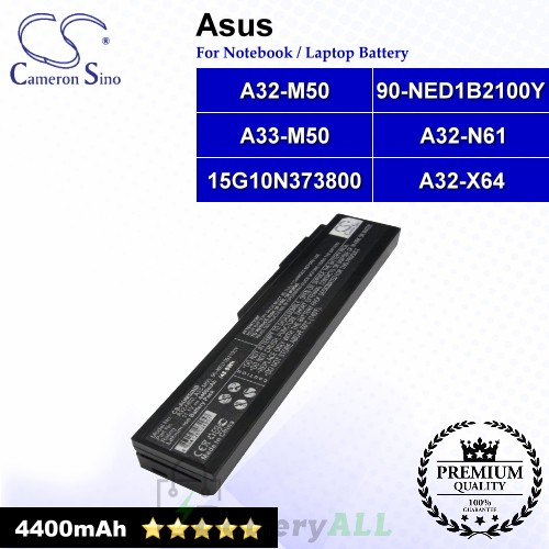 CS-AUM50NB For Asus Laptop Battery Model 15G10N373800 / 90-NED1B2100Y / A323-M50 / A32-M50 / A32-N61