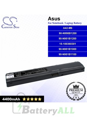 CS-AUM6NB For Asus Laptop Battery Model 15-100360301 / 90-N951B1000 / 90-N951B1100 / 90-N951B1200 / 90-N998B1200 / A42-M6