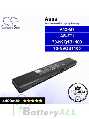 CS-AUM7NB For Asus Laptop Battery Model 70-N9Q1B1100 / 70-N9QB1100 / A42-M7 / AS-Z71