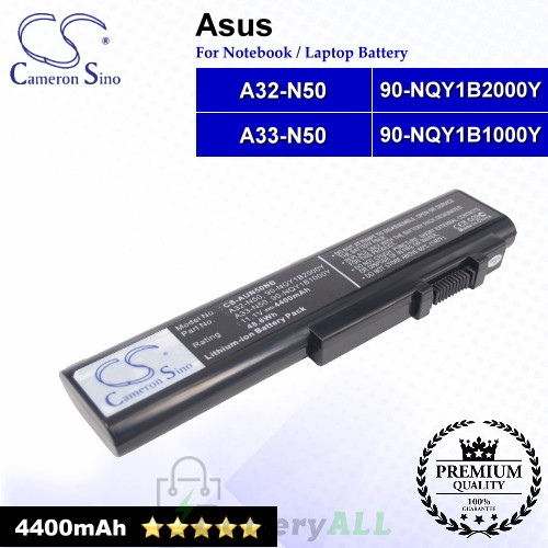 CS-AUN50NB For Asus Laptop Battery Model 90-NQY1B1000Y / 90-NQY1B2000Y / A32-N50 / A33-N50