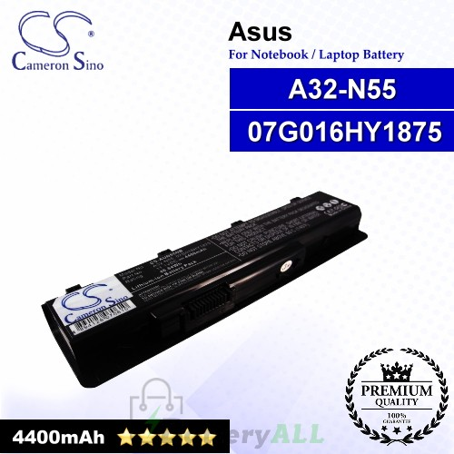 CS-AUN55NB For Asus Laptop Battery Model 07G016HY1875 / A32-N55