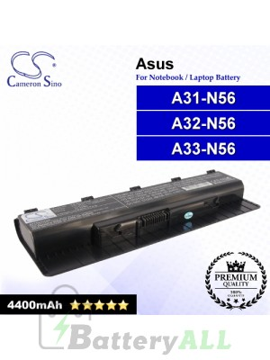 CS-AUN56NB For Asus Laptop Battery Model A31-N56 / A32-N56 / A33-N56