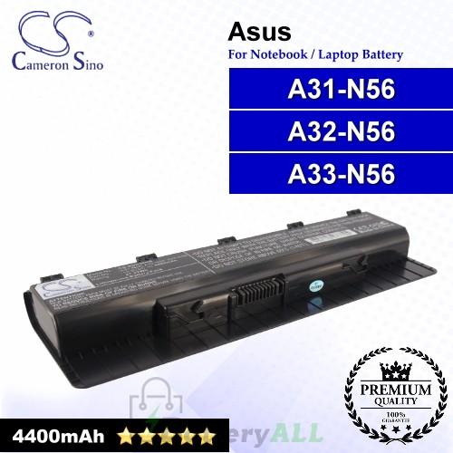 CS-AUN56NB For Asus Laptop Battery Model A31-N56 / A32-N56 / A33-N56