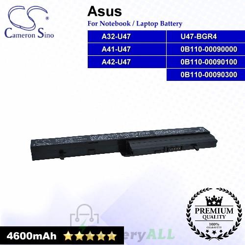 CS-AUR404NB For Asus Laptop Battery Model 0B110-00090000 / 0B110-00090100 / 0B110-00090300 / A32-U47 / A41-U47