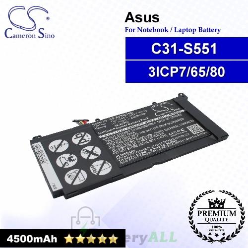CS-AUS551NB For Asus Laptop Battery Model 3ICP7/65/80 / C31-S551