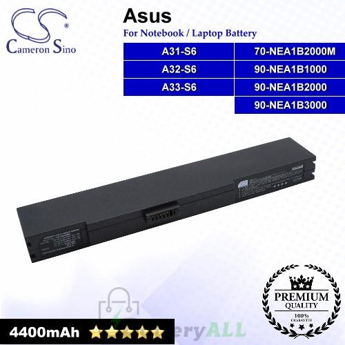 CS-AUS6NB For Asus Laptop Battery Model 70-NEA1B2000M / 90-NEA1B1000 / 90-NEA1B2000 / 90-NEA1B3000 / A31-S6