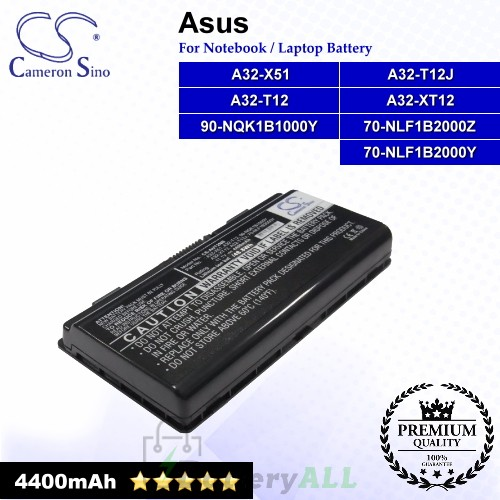 CS-AUT2NB For Asus Laptop Battery Model 70-NLF1B2000Y / 70-NLF1B2000Z / 90-NQK1B1000Y / A32-T12 / A32-T12J