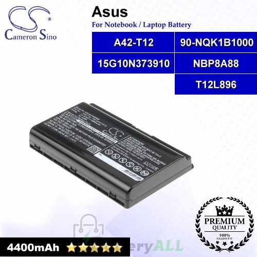 CS-AUT420NB For Asus Laptop Battery Model 15G10N373910 / 90-NQK1B1000 / A42-T12 / NBP8A88 / T12L896