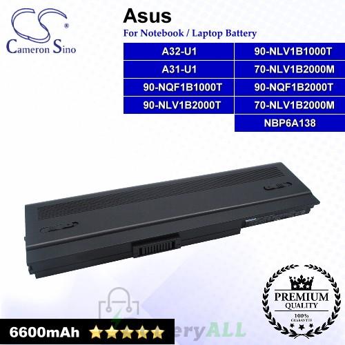 CS-AUU1HB For Asus Laptop Battery Model 70-NLV1B2000M / 90-NLV1B1000T / 90-NLV1B2000T / 90-NQF1B1000T