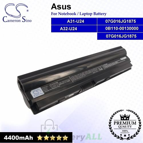 CS-AUU24HB For Asus Laptop Battery Model 07G016JG1875 / 0B110-00130000 / A31-U24 / A32-U24