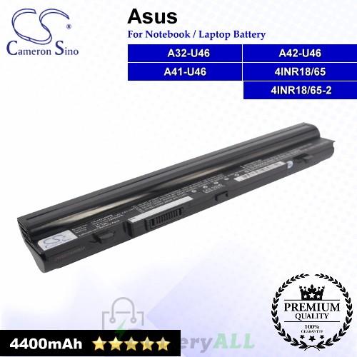 CS-AUU46NB For Asus Laptop Battery Model 4INR18/65 / 4INR18/65-2 / A32-U46 / A41-U46 / A42-U46