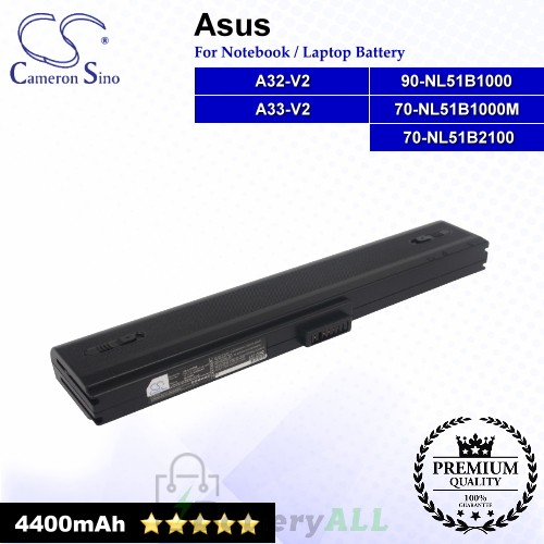 CS-AUV2NB For Asus Laptop Battery Model 70-NL51B1000M / 90-NL51B1000 / A32-V2