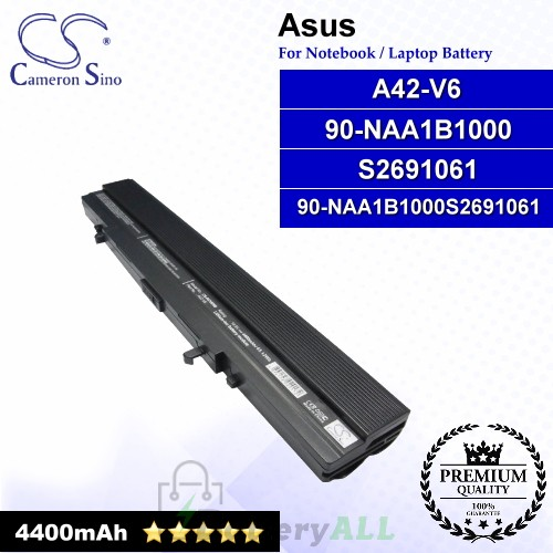 CS-AUV6NB For Asus Laptop Battery Model 90-NAA1B1000 / A42-V6 / S2691061