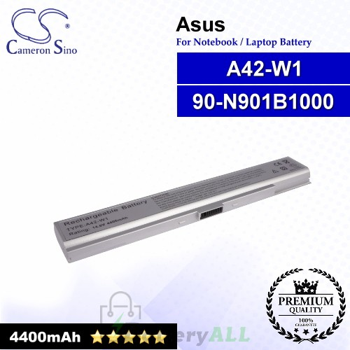 CS-AUW1NB For Asus Laptop Battery Model 90-N901B1000 / A42-W1