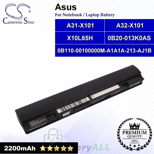 CS-AUX101NB For Asus Laptop Battery Model 0B110-00100000M-A1A1A-213-AJ1B / 0B20-013K0AS / A31-X101 (Black)