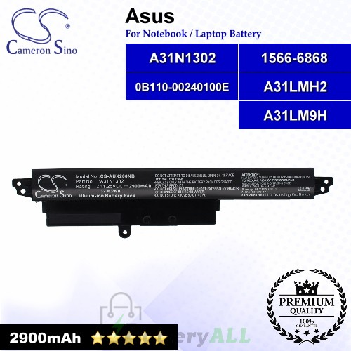 CS-AUX200NB For Asus Laptop Battery Model 0B110-00240100E / 1566-6868 / A31LM9H / A31LMH2 / A31N1302