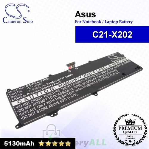 CS-AUX202NB For Asus Laptop Battery Model 0B200-00230300 / C21-X202