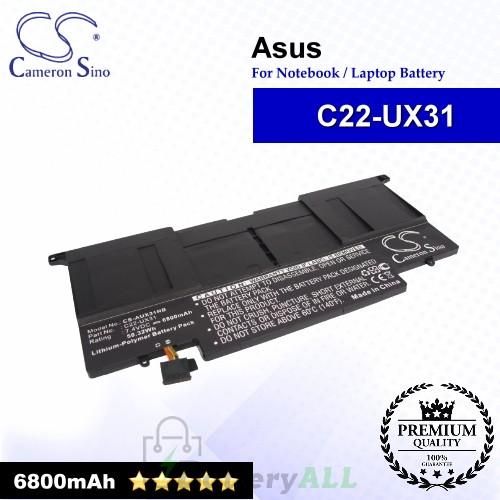 CS-AUX31NB For Asus Laptop Battery Model C22-UX31