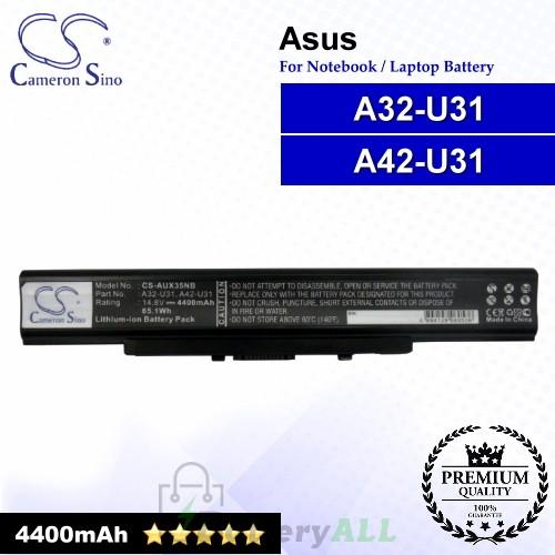 CS-AUX35NB For Asus Laptop Battery Model 07G016GQ1875M / 07G016H71875M / A32-U31 / A42-U31