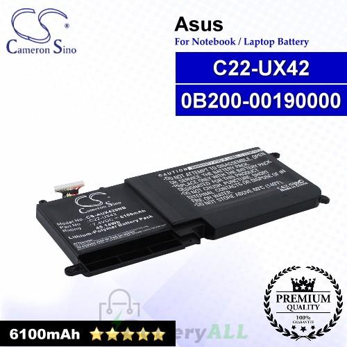 CS-AUX420NB For Asus Laptop Battery Model 0B200-00190000 / C22-UX42