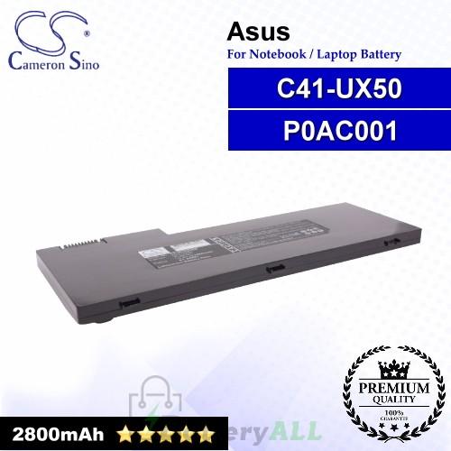 CS-AUX50NB For Asus Laptop Battery Model C41-UX50 / P0AC001