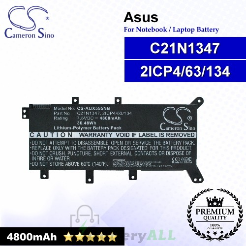 CS-AUX555NB For Asus Laptop Battery Model 2ICP4/63/134 / C21N1347