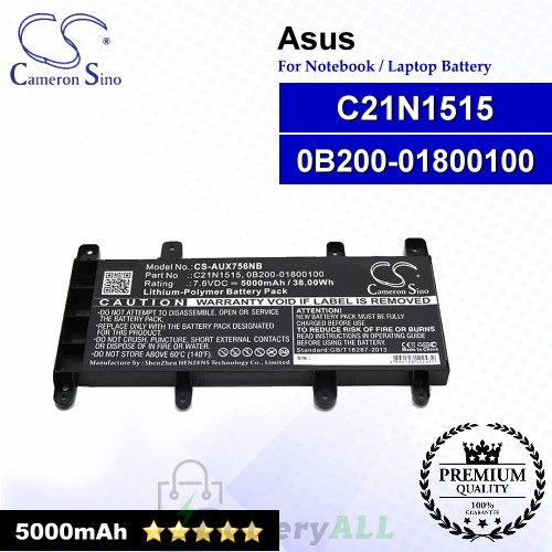 CS-AUX756NB For Asus Laptop Battery Model 0B200-01800100 / C21N1515