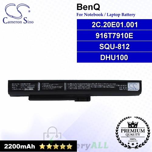 CS-BU101NT For BenQ Laptop Battery Model 2C.20E01.001 / 916T7910E / DHU100 / SQU-812
