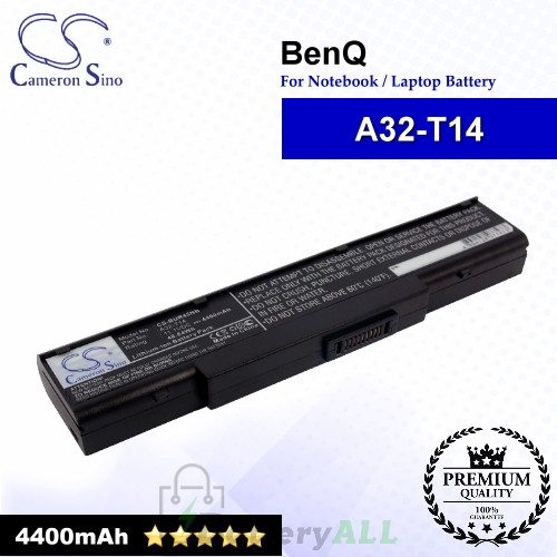 CS-BUR45NB For BenQ Laptop Battery Model A32-T14