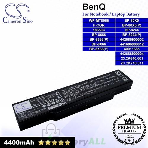 CS-MT8066NB For BenQ Laptop Battery Model 18650C / 23.2K640.001 / 2C.2K710.011 / 40011685 / 441686900012