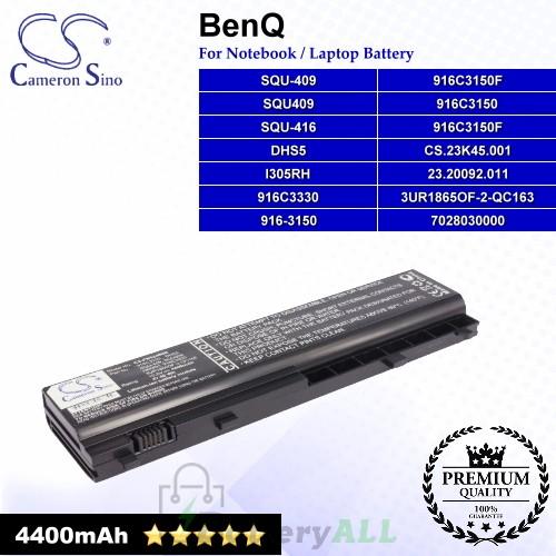 CS-PB5340NB For BenQ Laptop Battery Model 23.20092.011 / 3UR1865OF-2-QC163 / 7028030000 / 916-3150 / 916C3150