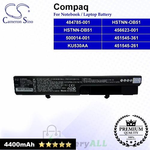CS-HPF540NB For Compaq Laptop Battery Model 451545-261 / 451545-361 / 456623-001 / 484785-001 / 500014-001